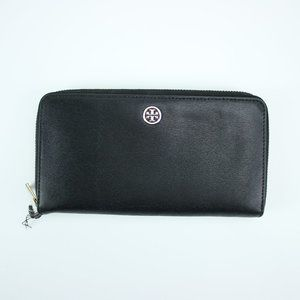 Tory Burch Leather Wallet Full Size Zip Around